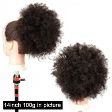 Uglam Hair Extensions Afro Kinky Curly With Drawstring Ponytail