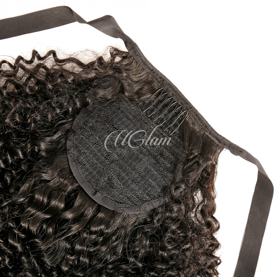 Uglam Hair With Drawstrings Ponytail Extension Kinky Curly