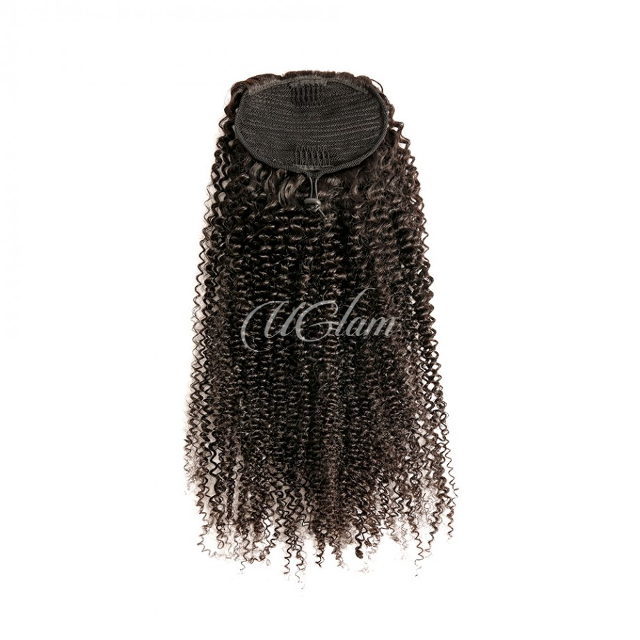 Uglam Extensions Kinky Curly With Drawstring Ponytail