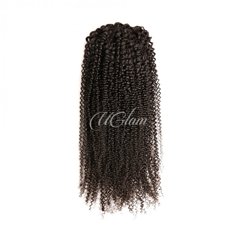 Uglam Human Virgin Hair Ponytail Extension Kinky Curly With Drawstrings