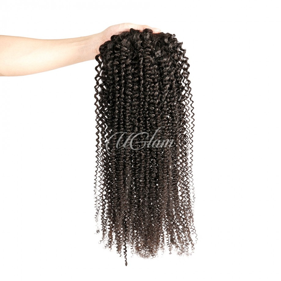 Uglam Hair Extensions Kinky Curly With Drawstring Ponytail