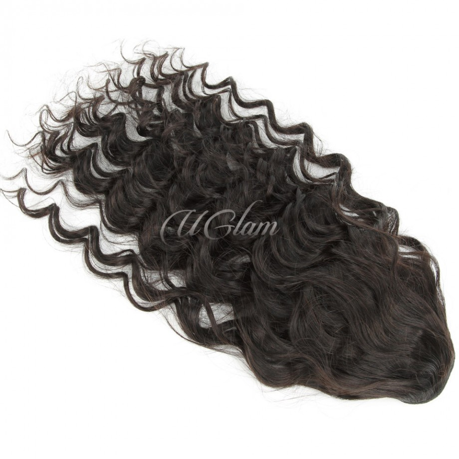 Uglam Hair Extensions Loose Deep Wave With Drawstring Ponytail