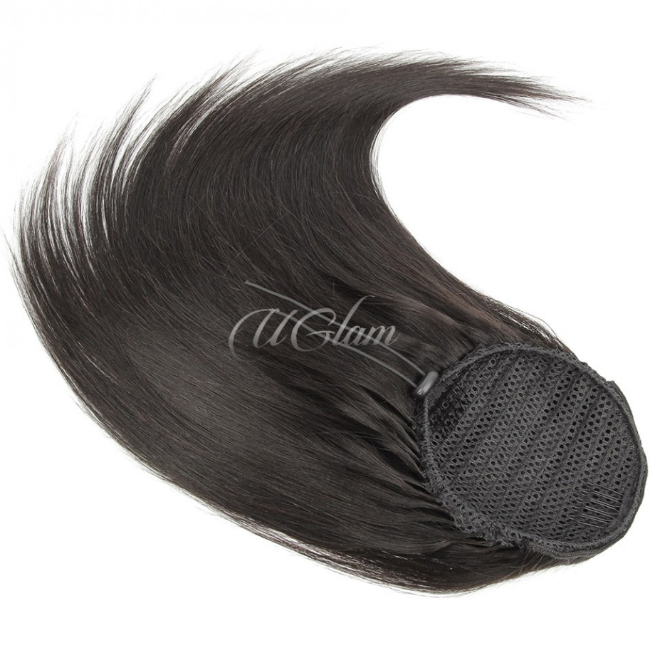 Uglam Extensions Straight With Drawstring Ponytail