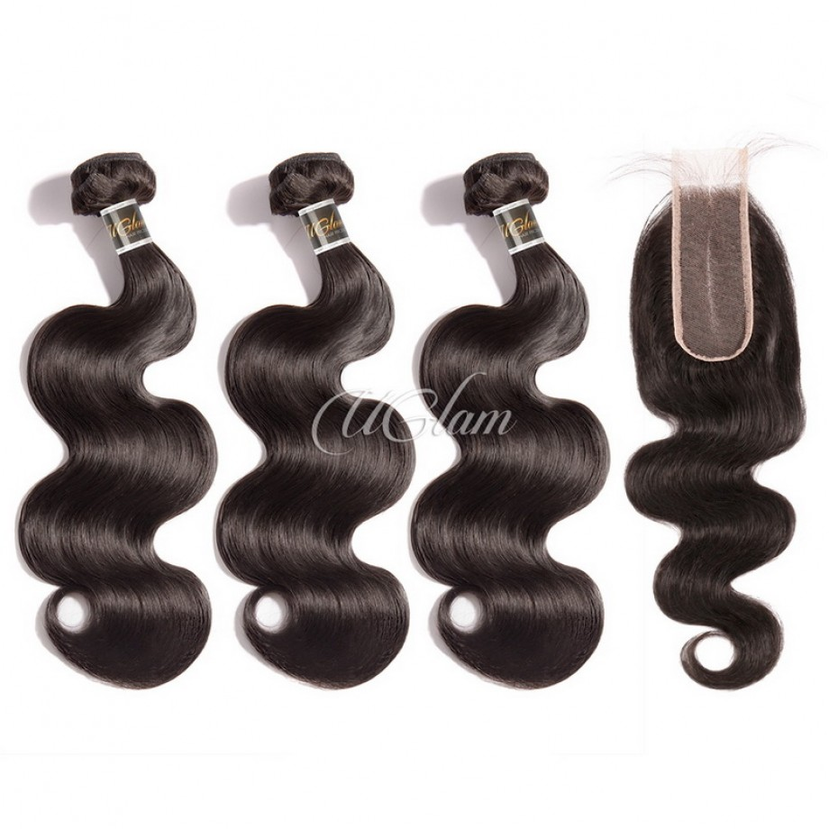 Virgin Hair 2x6 Lace Closure With Bundles Body Wave Hair Sexy Formula