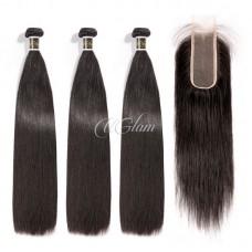 Virgin Hair 2x6 Lace Closure With Bundles Straight Hair Sexy Formula