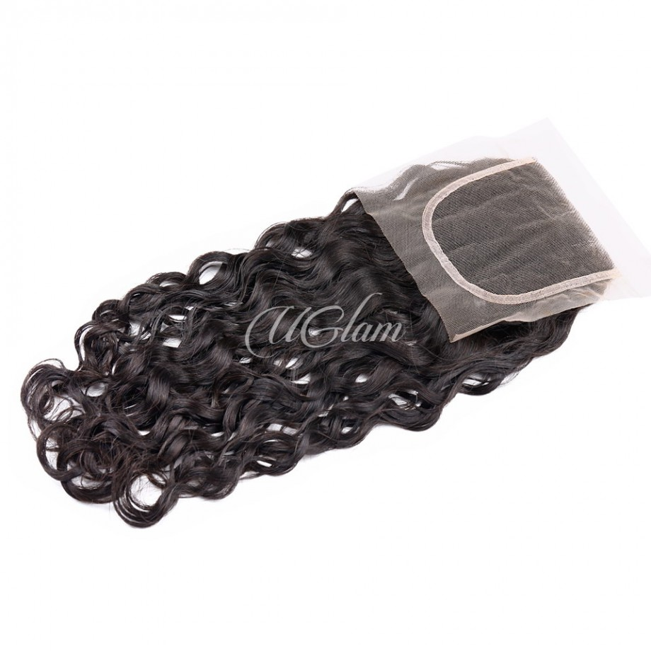 Uglam Bundles With Closure 4x4 Lace Closure Malaysian Water Wave