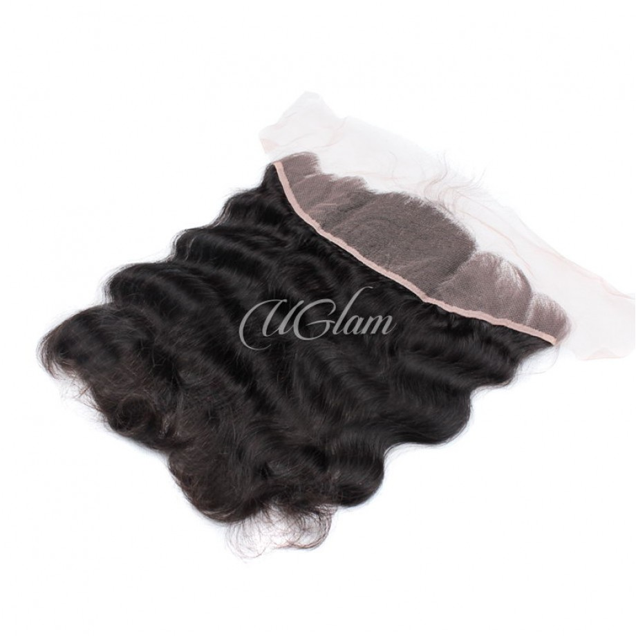 Uglam Hair Bundles With 13x4 Lace Frontal Closure Indian Body Wave