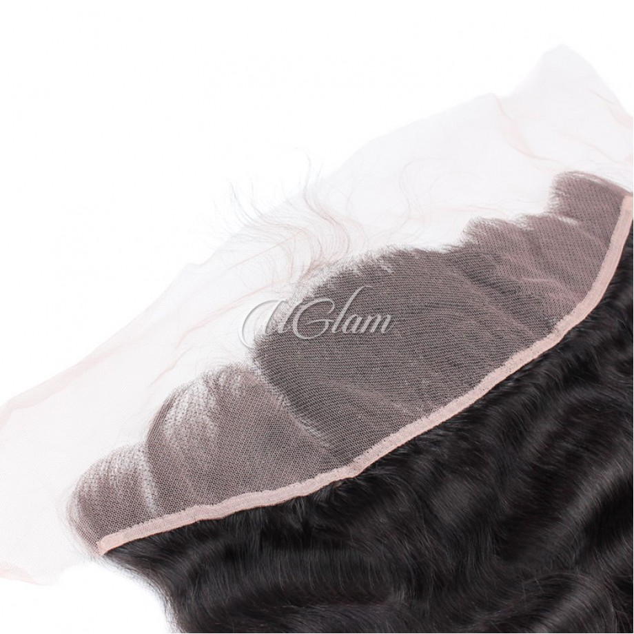 Uglam Hair Bundles With 4x13 Lace Frontal Closure Indian Body Wave
