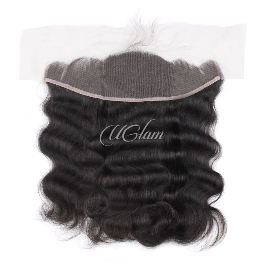 Uglam Hair Bundles With 13x4 Lace Frontal Closure Peruvian Body Wave