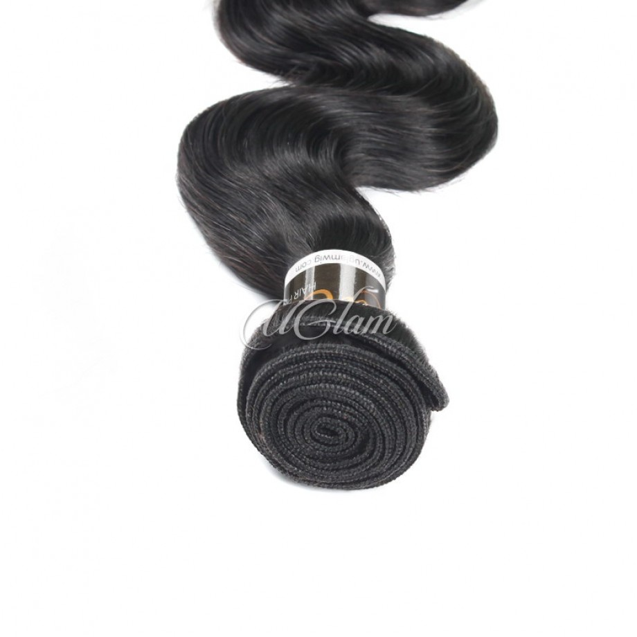 Uglam Hair Bundles With 4x4 Lace Closure Brazilian Body Wave