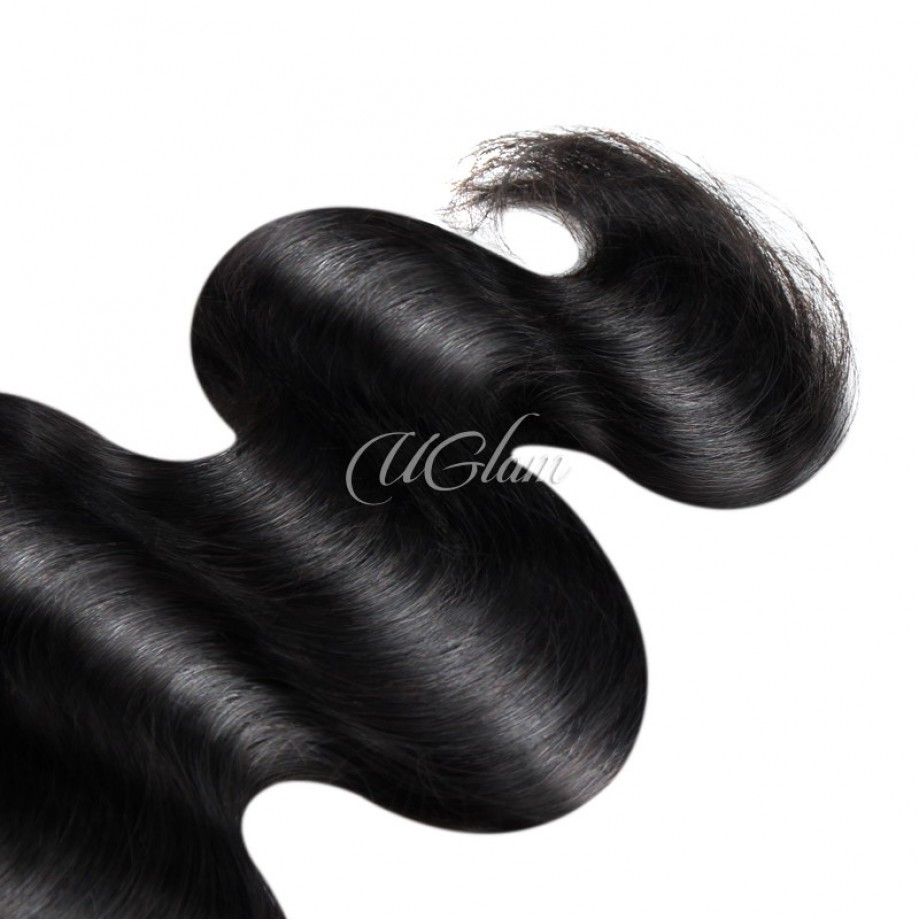 Uglam Hair Bundles With 4x4 Lace Closure Indian Body Wave