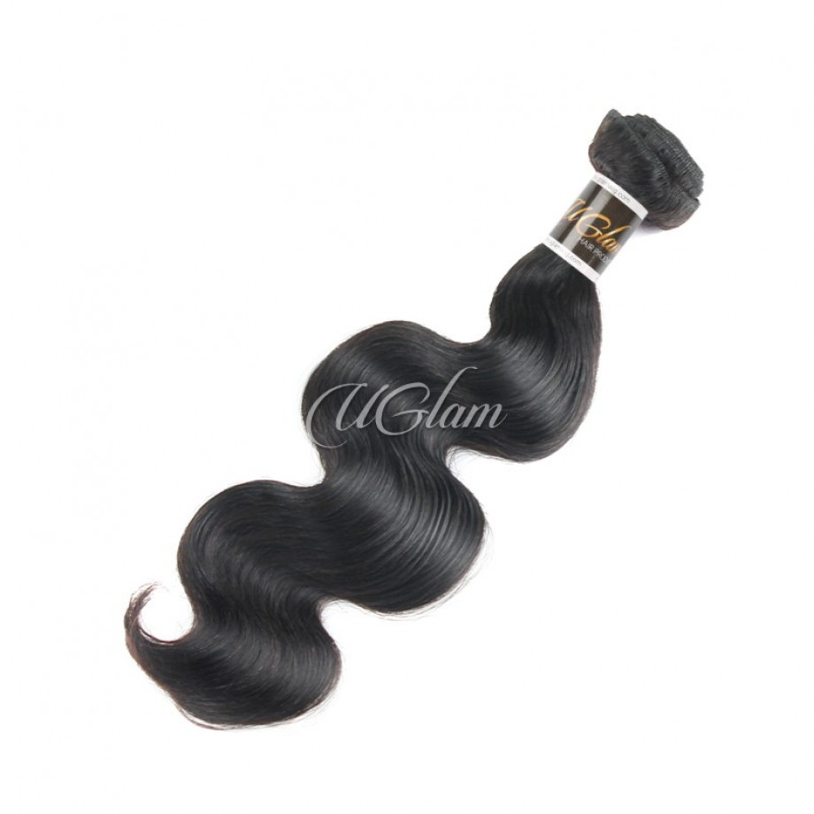 Uglam Hair Bundles With 4x4 Lace Closure Peruvian Body Wave