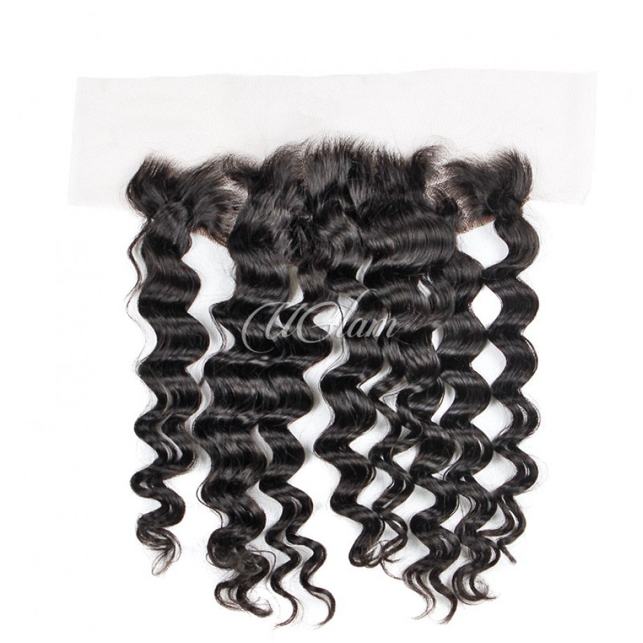 Uglam Bundles With 13x4 Lace Frontal Closure Brazilian Loose Wave