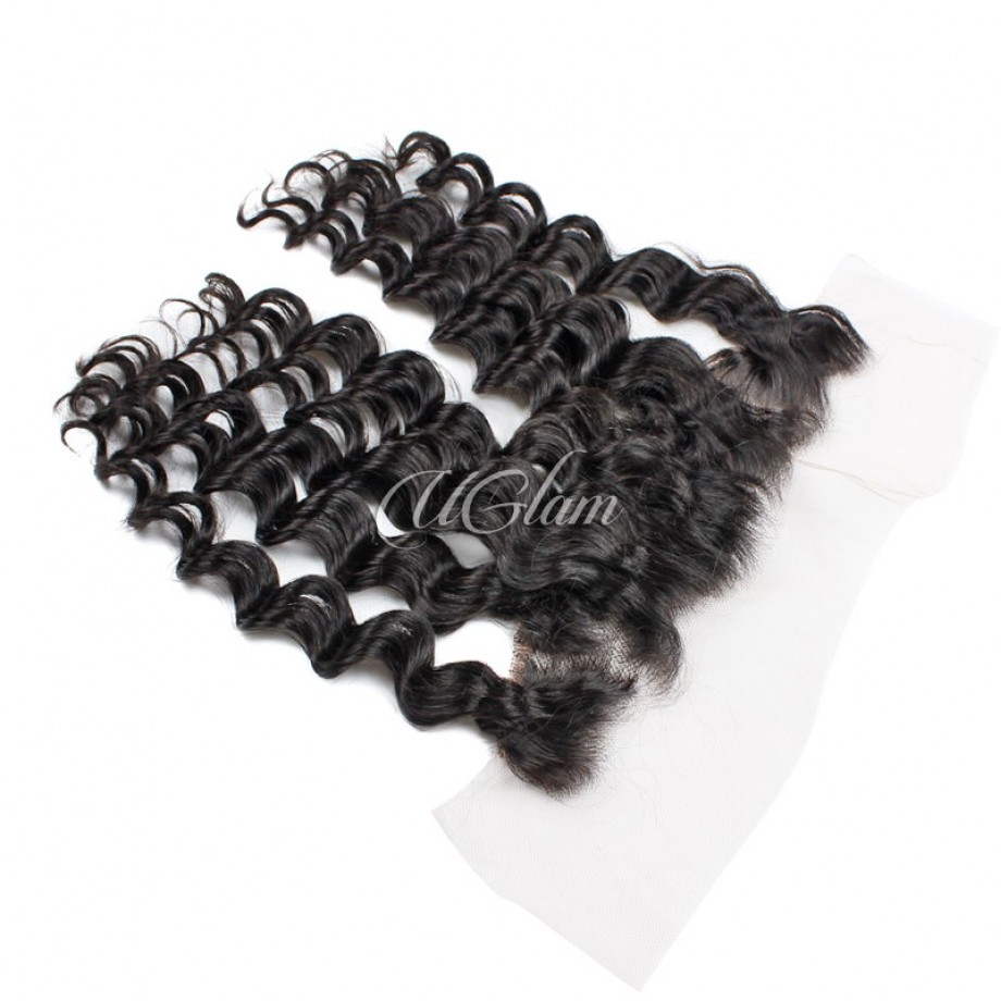 Uglam Bundles With 13x4 Lace Frontal Closure Peruvian Loose Wave