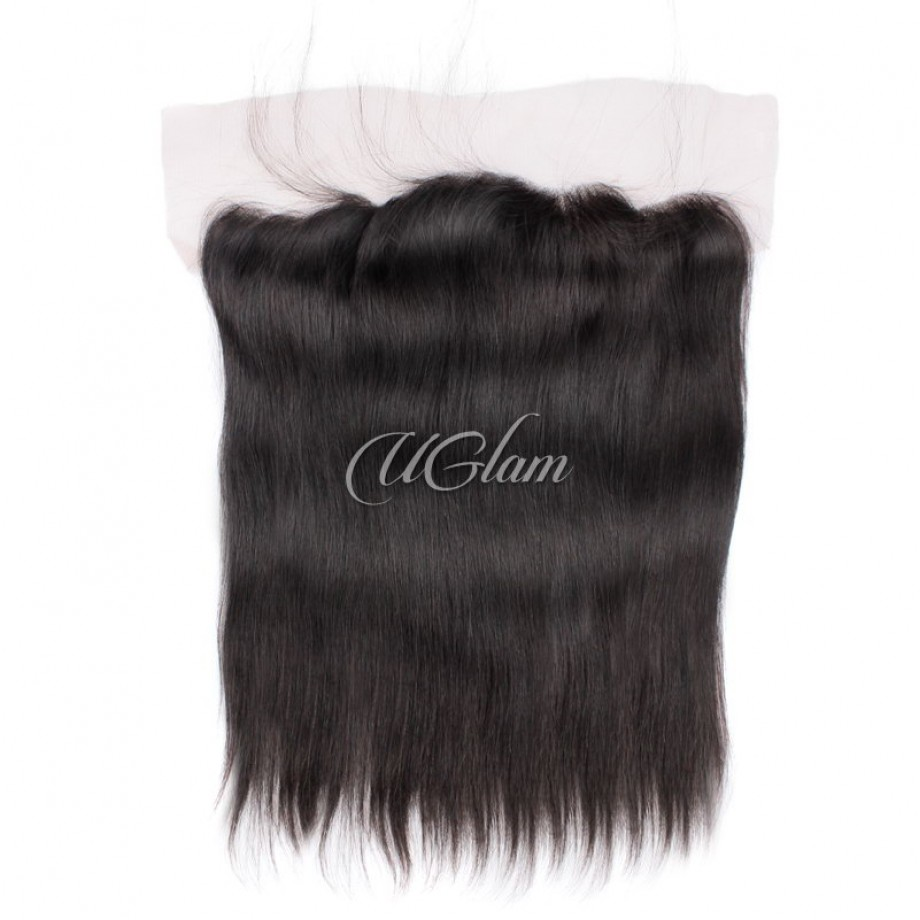 Uglam Hair Bundles With 13x4 Lace Frontal Closure Indian Straight