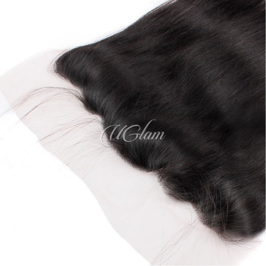 Uglam Hair Bundles With 4x13 Lace Frontal Closure Malaysian Straight