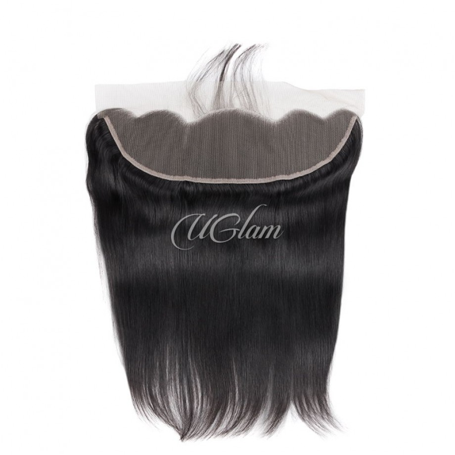 Uglam Hair Bundles With 4x13 Lace Frontal Closure Peruvian Straight