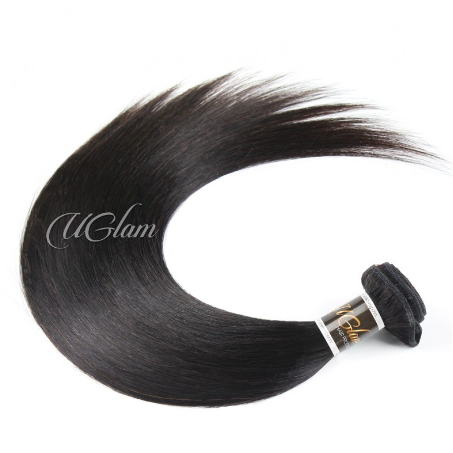 Uglam Hair Bundles With 4x4 Lace Closure Brazilian Straight