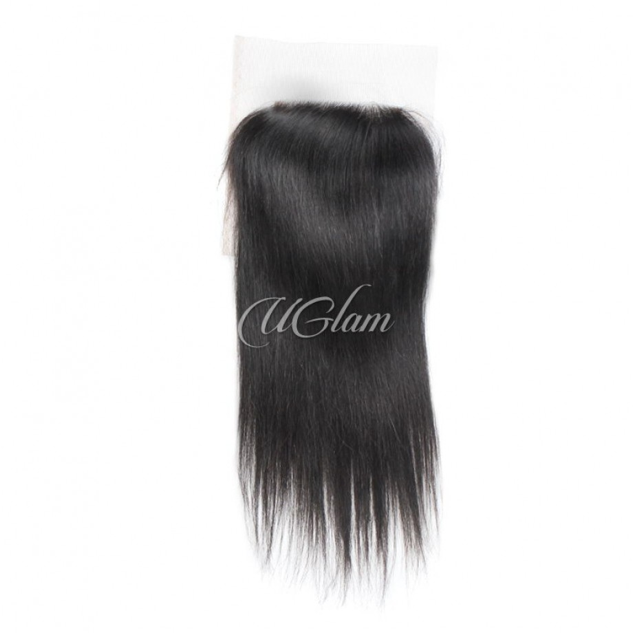 Uglam Hair Bundles With 4x4 Lace Closure Malaysian Straight