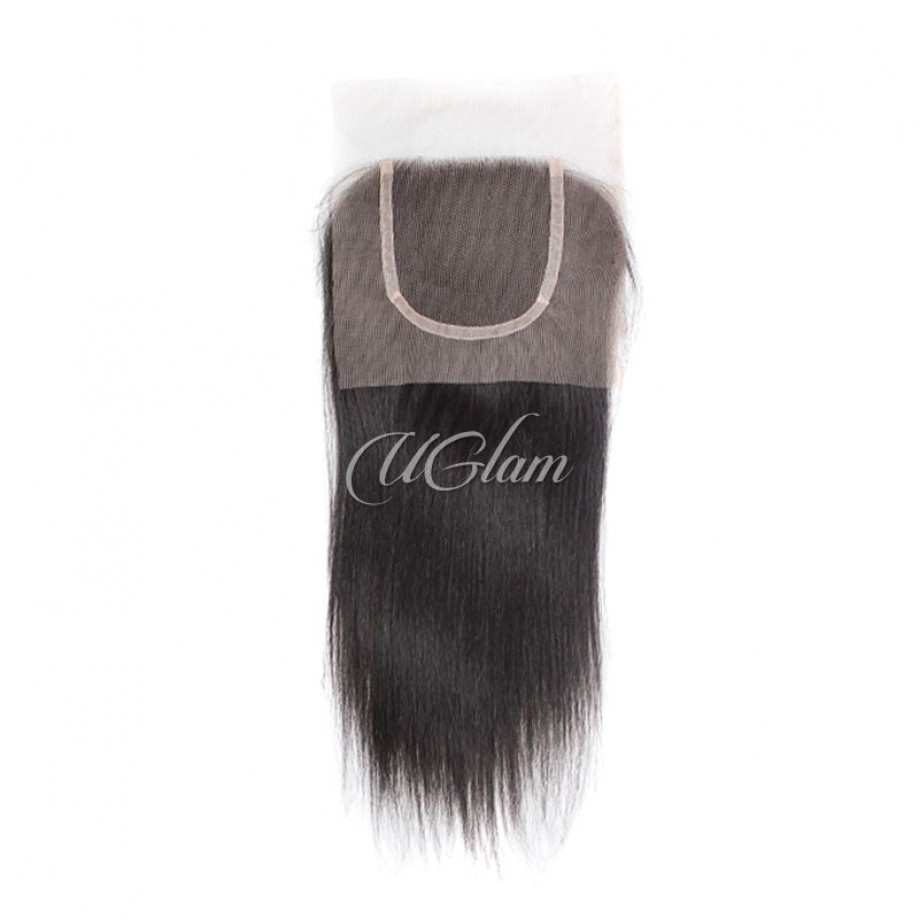 Uglam Hair Bundles With 4x4 Lace Closure Peruvian Straight