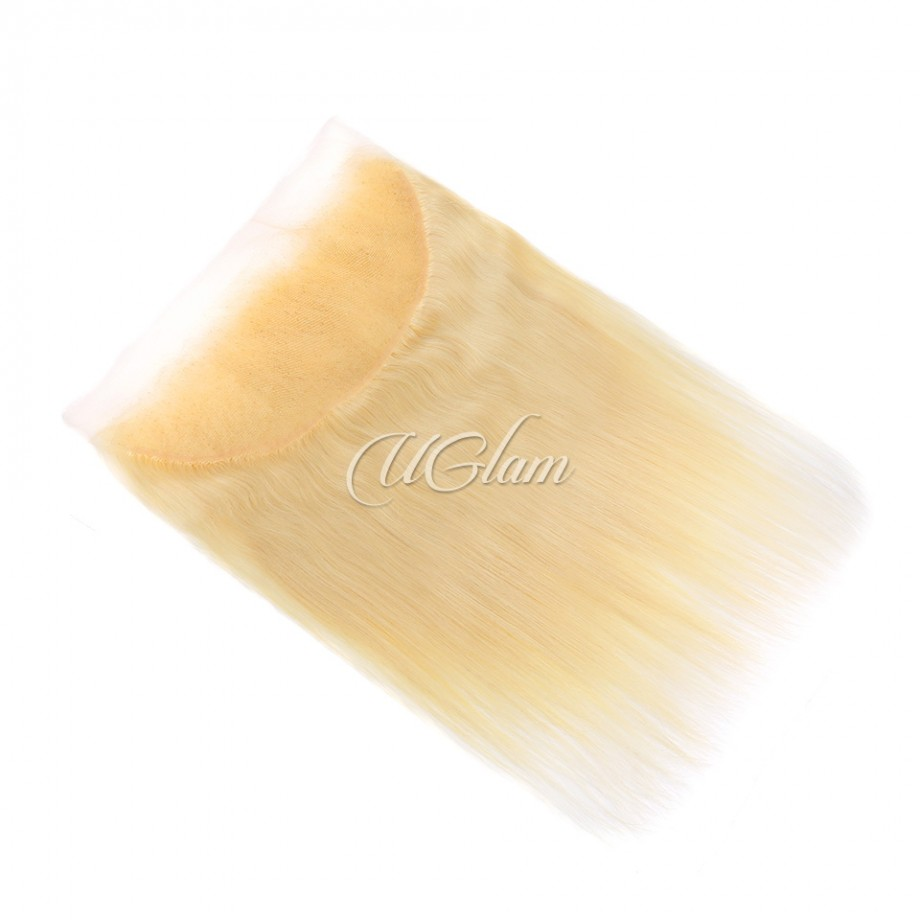 Uglam Hair 13x6 Swiss Lace Frontal Closure Blonde #613 Color Straight