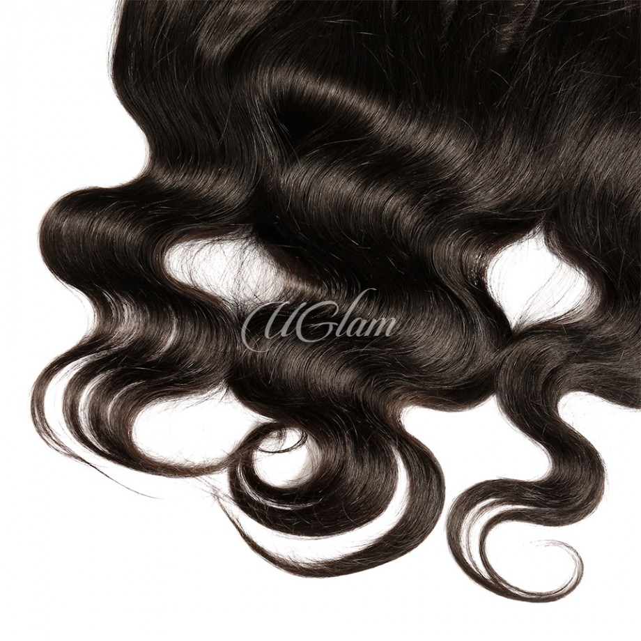 Uglam Hair 4x13 HD Swiss Lace Frontal Closure Body Wave