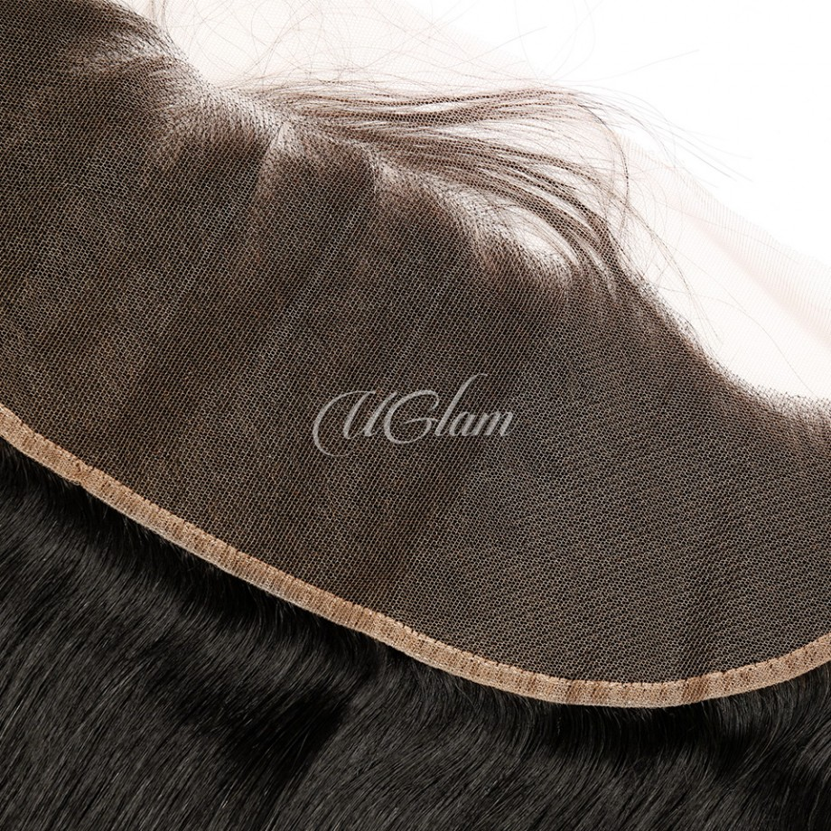 Uglam 13X4 Transparent Lace Frontal Straight Human Hair