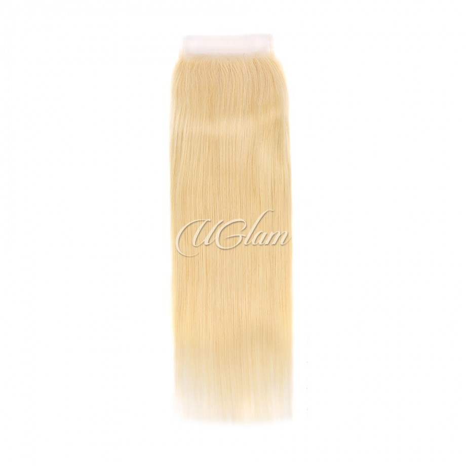 Uglam Hair 5x5 Swiss Lace Closure Blonde #613 Color Straight