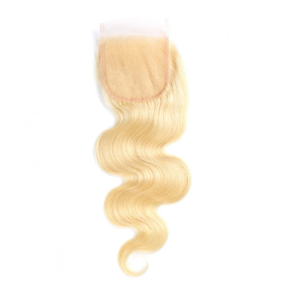 Uglam 4X4/ 5X5/ 6X6 Swiss Lace Closure Blonde #613 Color Body Wave (Length Of 6x6 Closure 10 12 14 Out Of Stock)