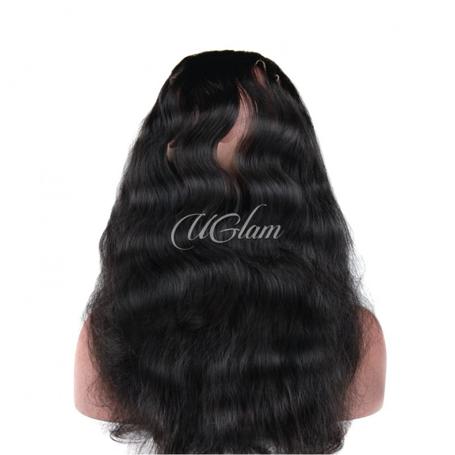 Uglam Hair 360 Lace Frontal Closure Malaysian Body Wave