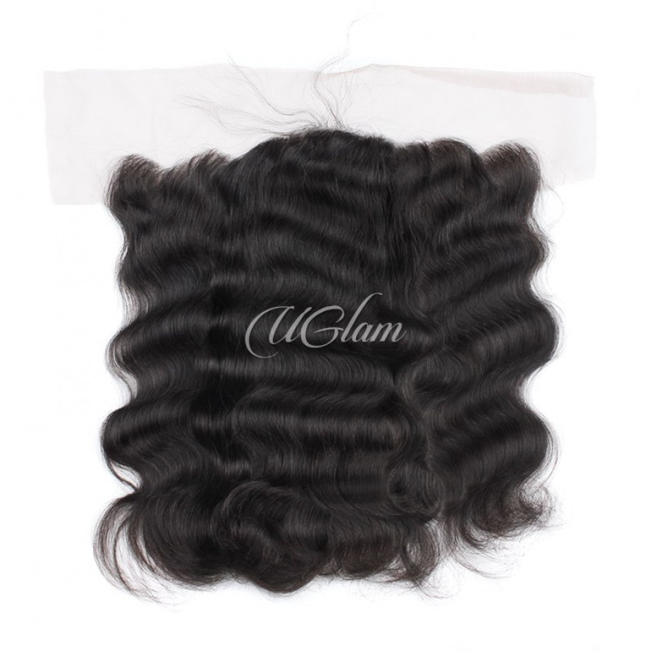 Uglam Hair 4x13 Swiss Lace Frontal Closure Brazilian Body Wave