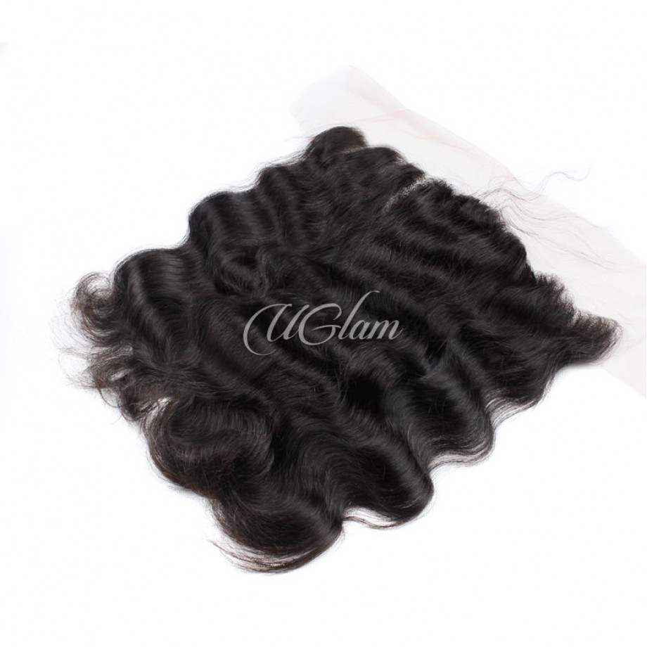 Uglam Hair 4x13 Swiss Lace Frontal Closure Indian Body Wave