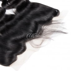 Uglam Hair 4x13 Lace Front Closure Malaysian Body Wave Sexy Formula