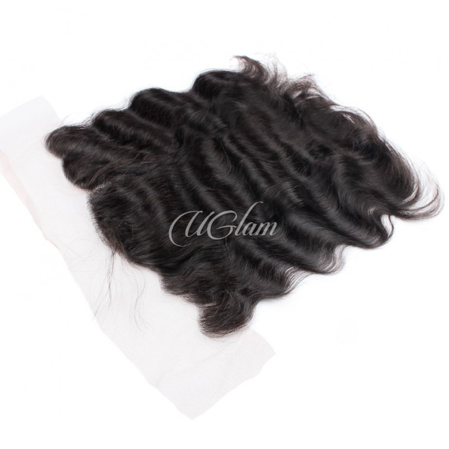 Uglam Hair 13x4 Swiss Lace Frontal Closure Malaysian Body Wave
