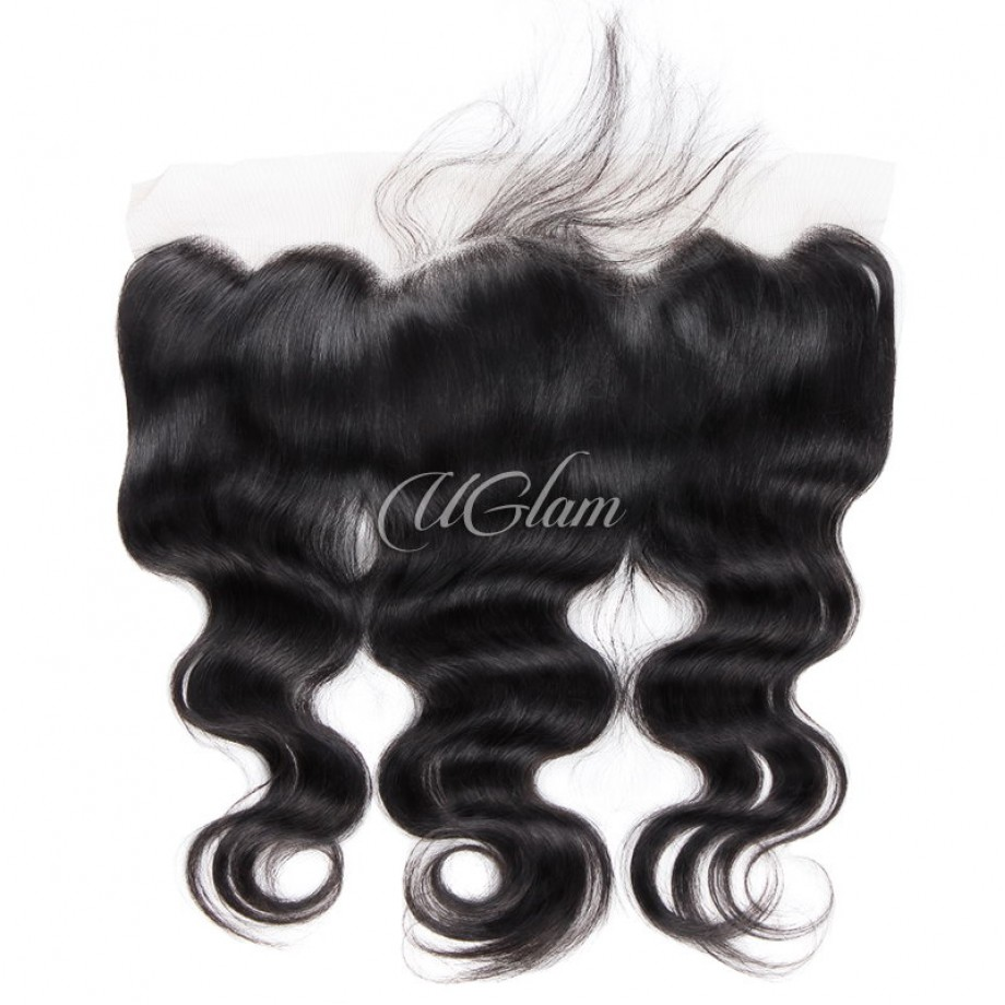 Uglam Hair 4x13 Swiss Lace Frontal Closure Peruvian Body Wave