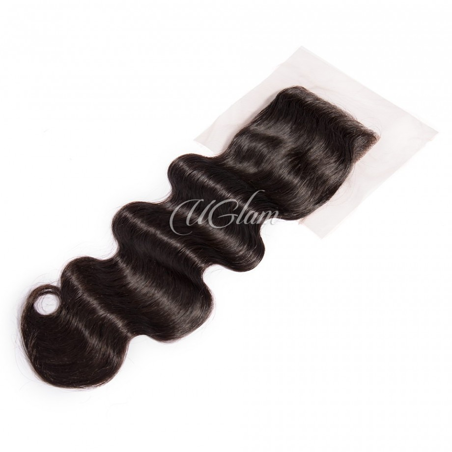 Uglam Hair 4x4 Lace Closure Indian Body Wave Sexy Formula