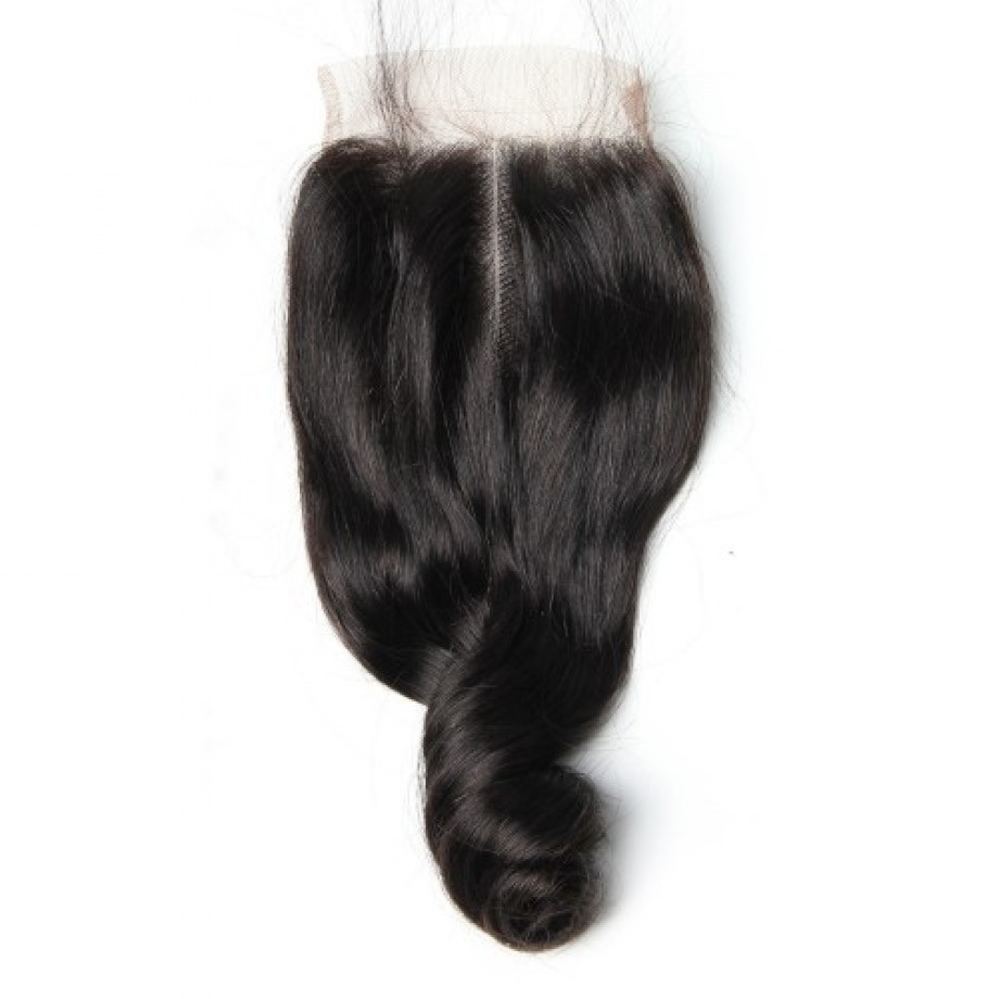 Uglam 5x5 Transparent Lace Closure Loose Wave Sexy Formula