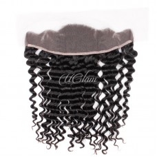 Uglam Hair 4x13 Swiss Lace Frontal Closure Brazilian Deep Wave