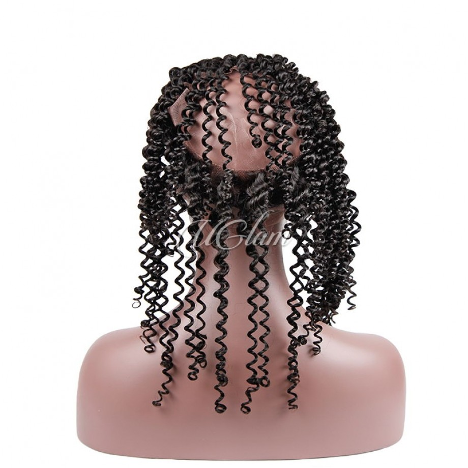 Uglam Hair 360 Lace Frontal Closure Mongolian Kinky Curly Sexy Formula