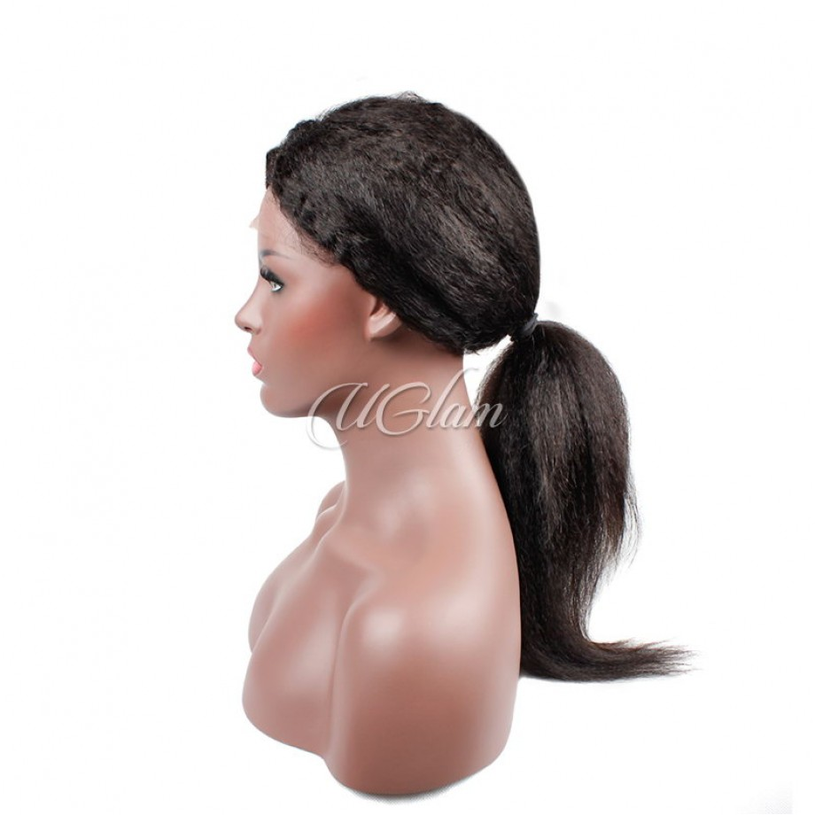 Uglam Hair 360 Lace Frontal Closure Mongolian Kinky Straight