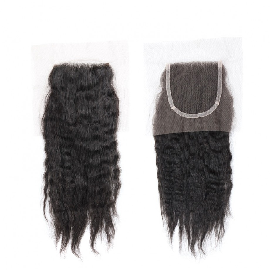Uglam 4x4 Swiss Lace Closure Kinky Straight