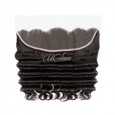 Uglam Hair 4x13 Swiss Lace Frontal Closure Brazilian Loose Deep