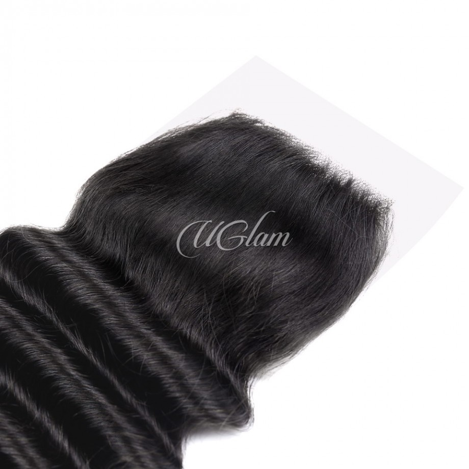 Uglam Hair 4x4 Swiss Lace Closure Brazilian Loose Deep