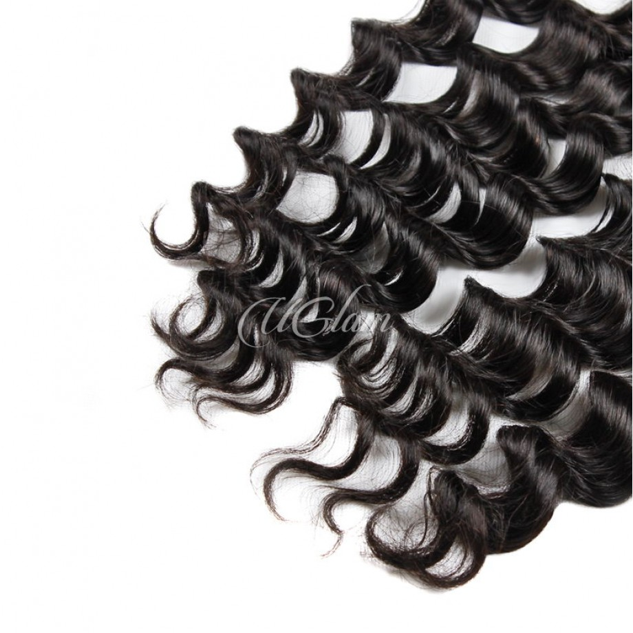 Uglam Hair 4x13 Swiss Lace Frontal Closure Malaysian Loose Wave