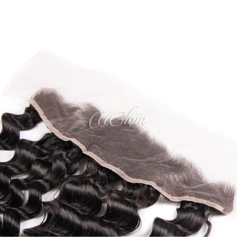 Uglam Hair 13x4 Swiss Lace Frontal Closure Peruvian Loose Wave