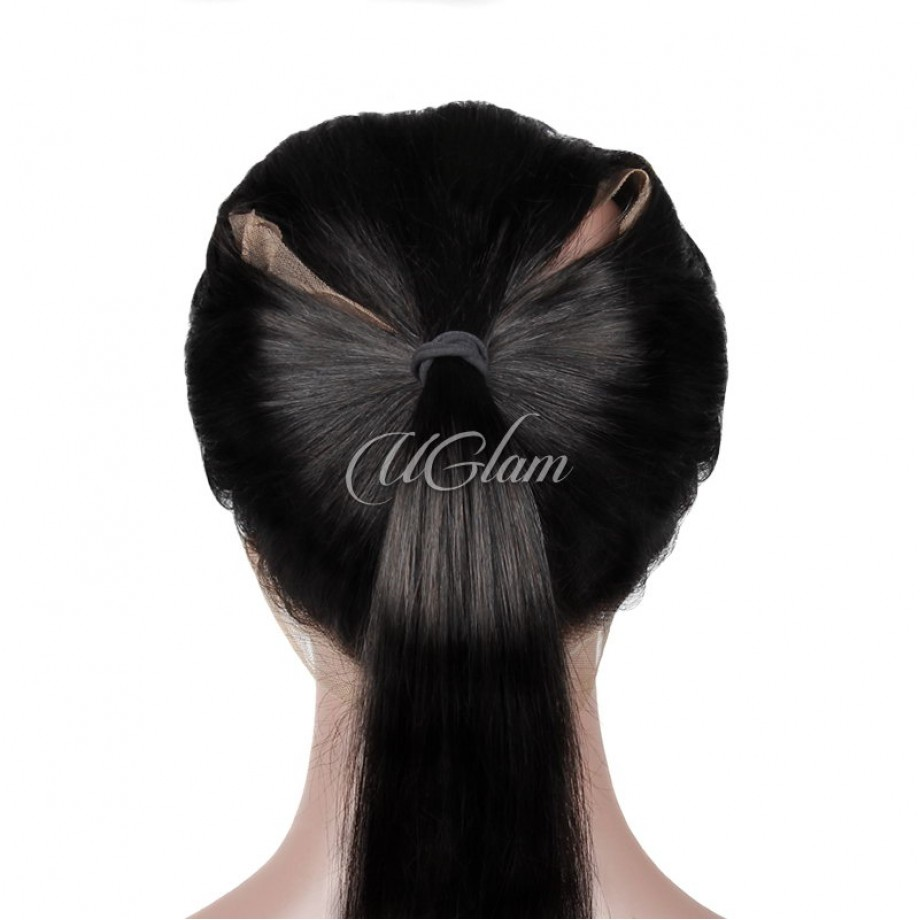 Uglam Hair 360 Lace Frontal Closure Brazilian Straight
