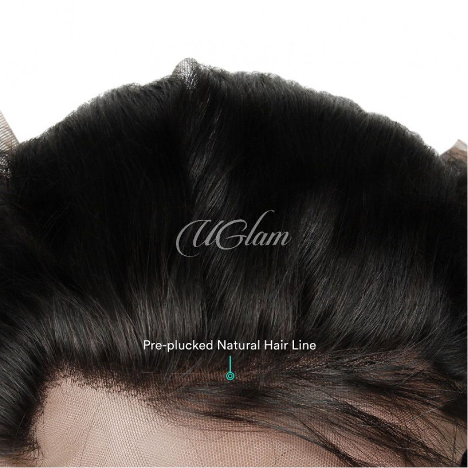 Uglam Hair 360 Lace Frontal Closure Peruvian Straight