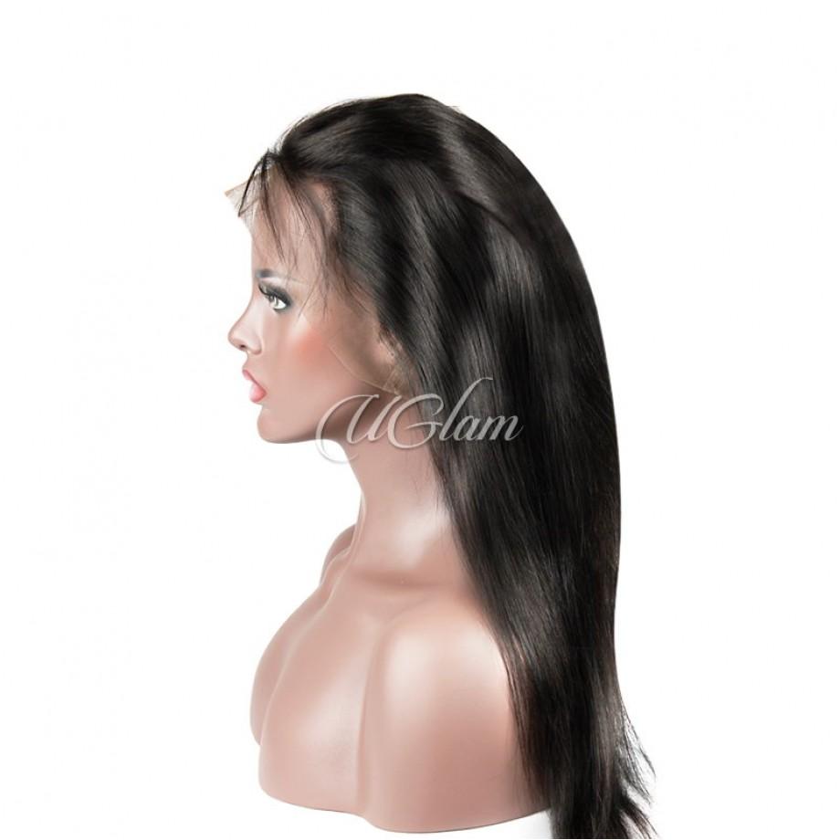 Uglam Hair 360 Lace Frontal Closure Malaysian Straight