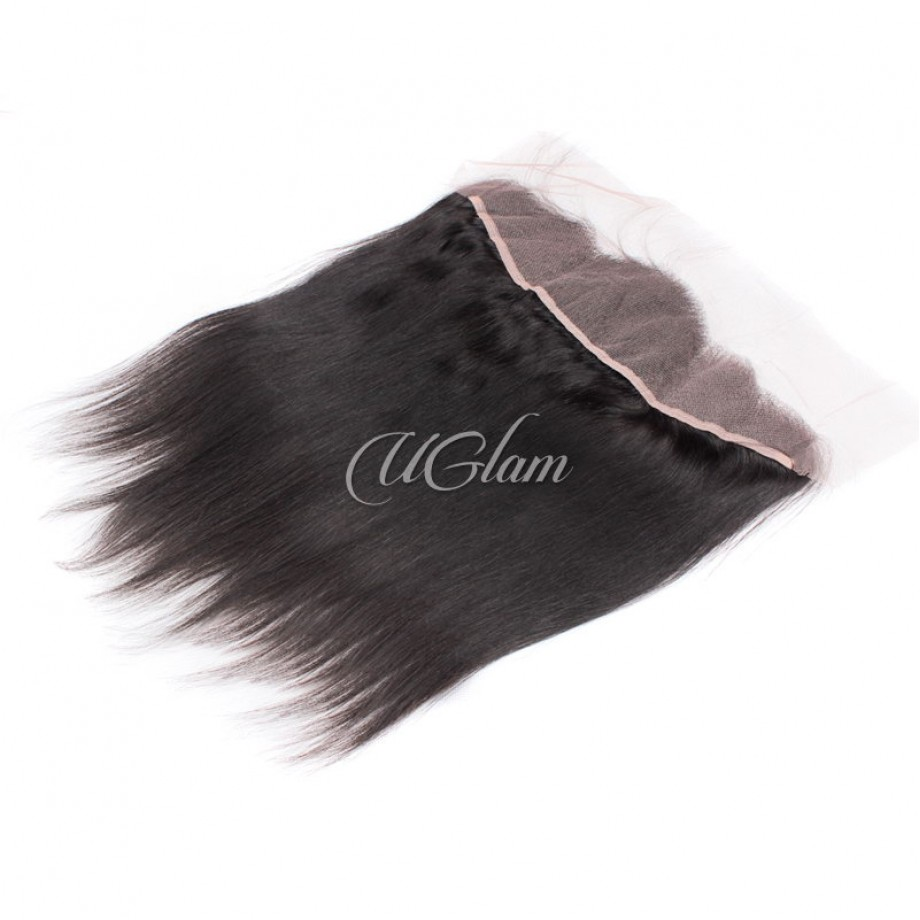 Uglam Hair 13x4 Swiss Lace Frontal Closure Malaysian Staright Hair