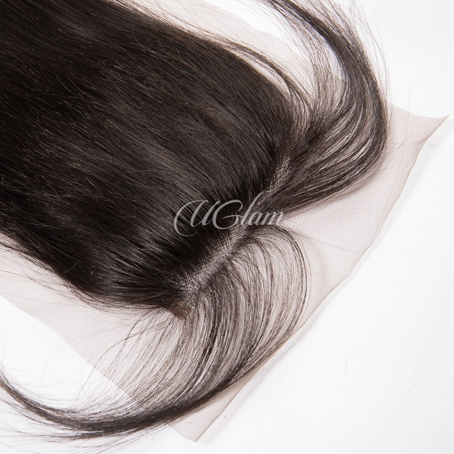 Uglam Hair 4x4 Swiss Lace Closure Indian Straight